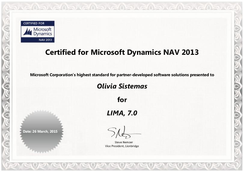 Certificado CfMD